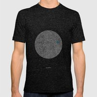 - cosmos_07 - Mens Fitted Tee Tri-Black SMALL