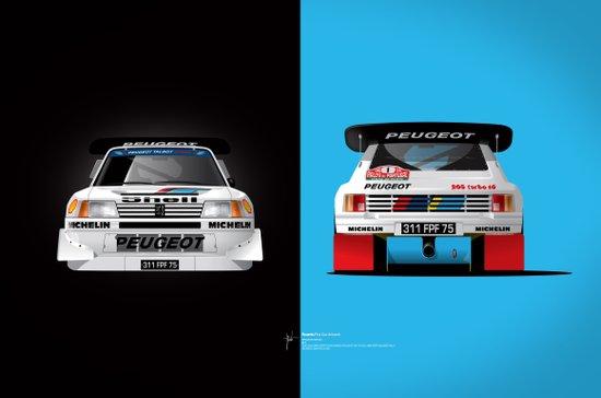 Group B Edition, N.º1, Peugeot 205 T16 E2 Canvas Print