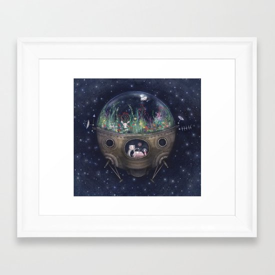 Space Home Framed Art Print