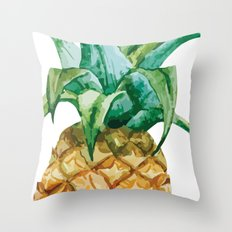 Pineapple , tropical , hawaii , summer , fruit , pineapple print , pineapple design Throw Pillow