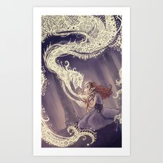 The Donkey Princess and the Evil Eye Art Print