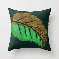 Drying Leaf Throw Pillow