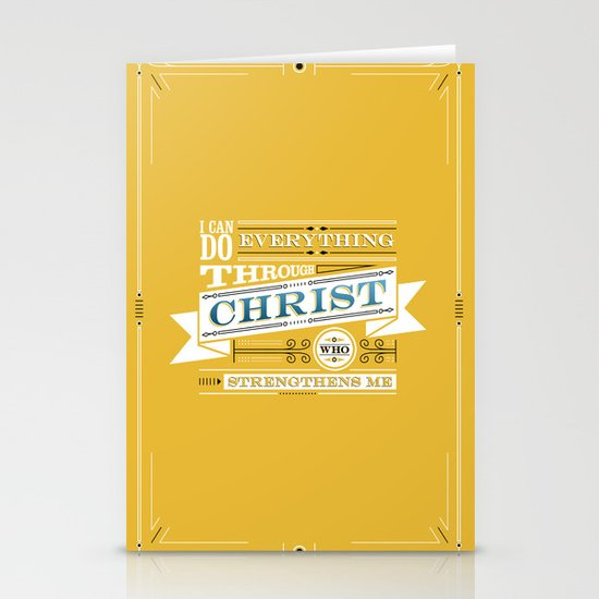 Philippians 4:13 Stationery Card