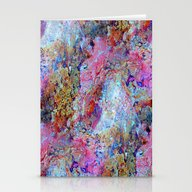 Rainbow Marble Stationery Cards