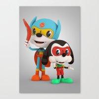 Bat Rat And Side Kick Canvas Print