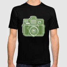 I Still Shoot Film Holga Logo - Green SMALL Black Mens Fitted Tee