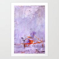 orange & dusty violet Art Print