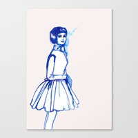 What Is She ThINKing?blu… Canvas Print