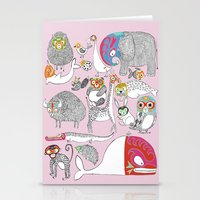 Animales Luchadores Stationery Cards