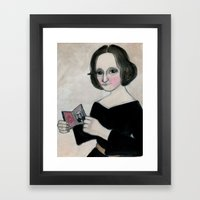 Mary Shelley And The Mon… Framed Art Print