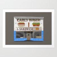 Carl's Burgers Art Print