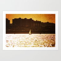 City Backdrop Art Print