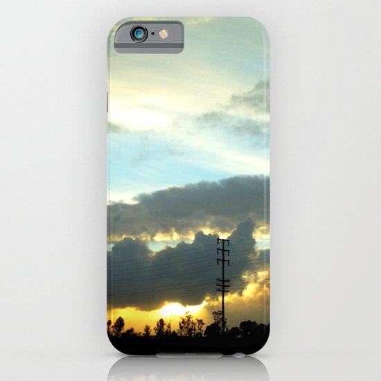 The sun peeking through the clouds. iPhone & iPod Case