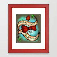 I Will Always Remember When The Doctor Was Me Framed Art Print