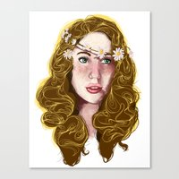 Flowers In Your Hair.... Canvas Print