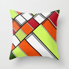Lined II Throw Pillow