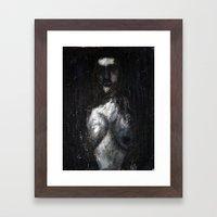 HOT VAMPIRE WITH IMPLANTS Framed Art Print