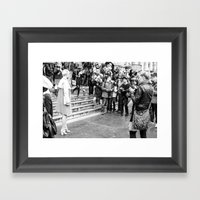 The Scrum Framed Art Print