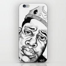 Biggie Smalls Stippling iPhone & iPod Skin