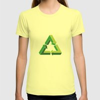 Recycle Infinitely Womens Fitted Tee Lemon SMALL