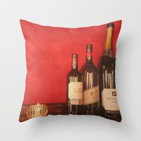 Wine on the Wall Throw Pillow