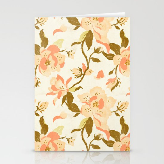 Magnolia Pattern Stationery Card