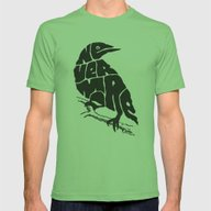 Quoth The Raven Mens Fitted Tee Grass SMALL