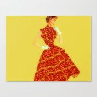 Pizza Dress Canvas Print