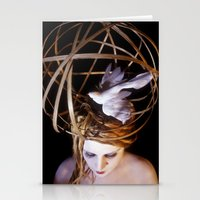Bird Headpiece Stationery Cards