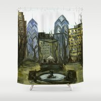 Rittenhouse Square in the Winter Shower Curtain