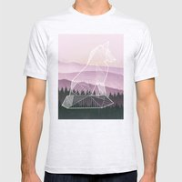 Geometric Nature - Fox (Full) Mens Fitted Tee Ash Grey SMALL