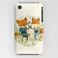 iPhone 3Gs & iPhone 3G Cases featuring Fox Friends by Teagan White
