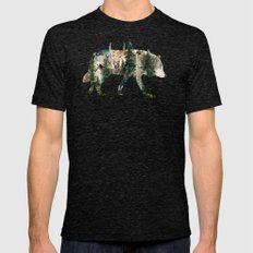 Wolf is the Pride of Nature Mens Fitted Tee Tri-Black SMALL