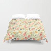 Autumn Floral Pattern Duvet Cover