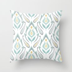 Soft Ikat Throw Pillow