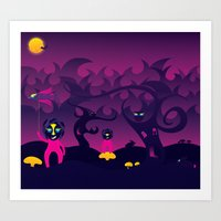 Night Of The Forest Spir… Art Print