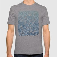 Wave Machine Mens Fitted Tee Athletic Grey SMALL