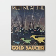 Final Fantasy VII Gold Saucer Travel Poster Metal Print