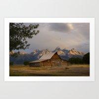 Grand Teton National Park - Mormon Row Moulton Barn Art Print
