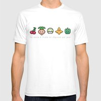 Geek Food Mens Fitted Tee White SMALL