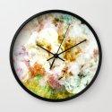 Soft Florals Wall Clock