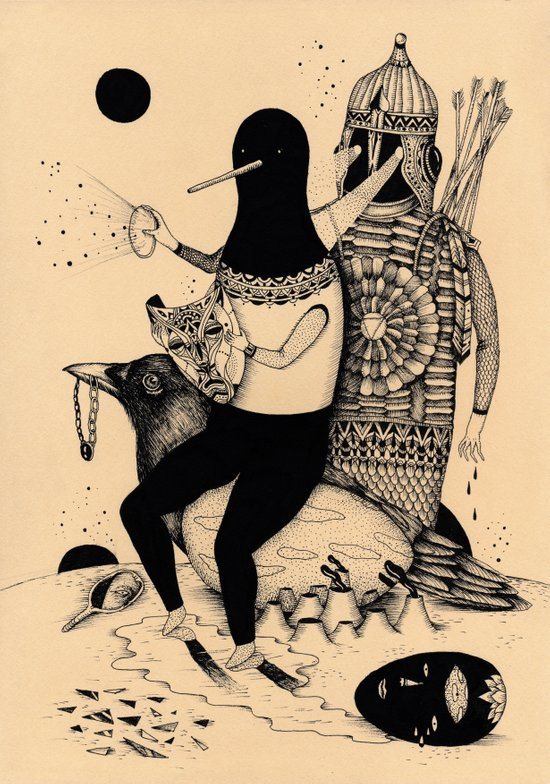 The Thief, The Poet and The Warrior Canvas Print