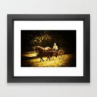 A Gentleman's Ride Framed Art Print