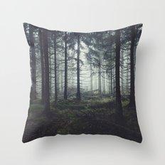 Through The Trees Throw Pillow