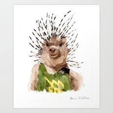 Porcupine Dude Art Print