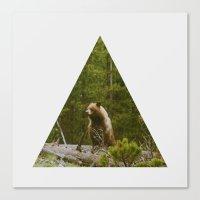 Log Bear Canvas Print
