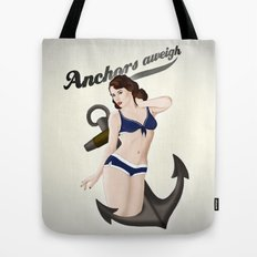 Anchors Aweigh - Classic Pin Up Tote Bag