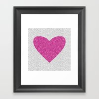Pink Love Framed Art Print