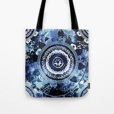 Navy Sea Mandala Tote Bag