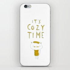 it's cozy time iPhone & iPod Skin